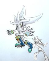 Silver the Hedgehog - redraw by Clearleaf-Forest