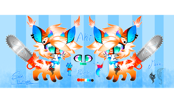 too cute, but dangerous. Aki fursaw reference by samnightmare