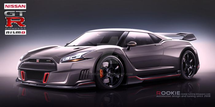 Nissan GT-R R36 concept NISMO grey by rookiejeno
