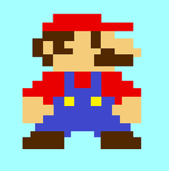 8bit Mario by insane4hatenafrogs