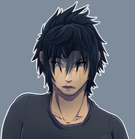Sassy Noct (aka a sketch that got out of hand) by ItalianChefPasta-way