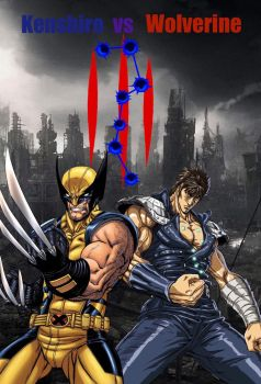 Kenshiro vs Wolverine: Movie Poster by TheSelfishEnd
