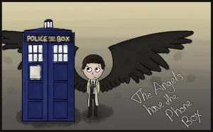 Castiel has the Phone Box by Saza-Productions