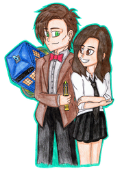 11th Doctor and Clara by SailorSetsuna