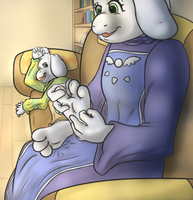 Asriel's Tickle Time by SodiePawp