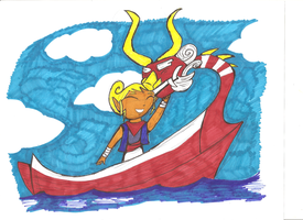 Zelda Windwaker Sailing with Dad by Ready2Create