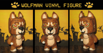 Wolfman Vinyl Figure by Thatotterthing