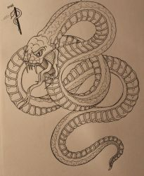 tattoo snake with reference by maskedGHH
