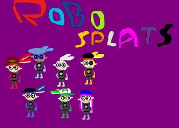 Robo Splats by SeantheInkling