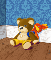 Banjo-Kazooie Teddy by Banjo-FellaBFBA