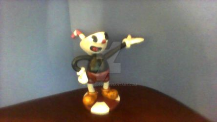 Cuphead in Polymer Clay by brusseleos