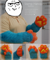 Stamp Handpaws + Armsleeves by FlixtheFox