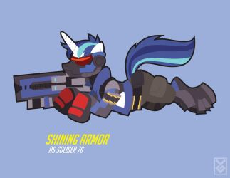 Shining Armor as Soldier 76 by Inspectornills