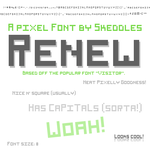 Font - Renew by skeddles