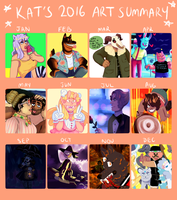 My Art This Year!! by KatsLoveSalmon