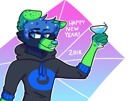 happy new year 2k18 by KingSobaka