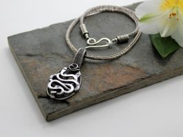 Akurra - Entwined Snake Pendant In Sterling Silver by AbbyHook