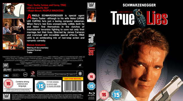 True Lies UK Blu Ray Cover by DVDandfilmbloke