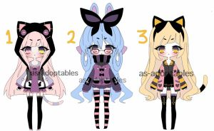 Pastel Kemonomimi adoptable batch  CLOSED ON HOLD by AS-Adoptables