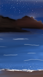 Starry Night by the Sea by Swiftsunset01