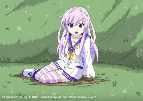 Nepgear in Quicksand 01 by A-020