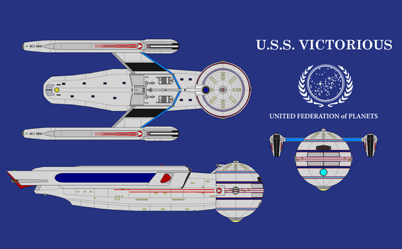 USS Victorious Federation Carrier by NRE86