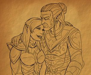 Father and Daughter by SlayerSyrena