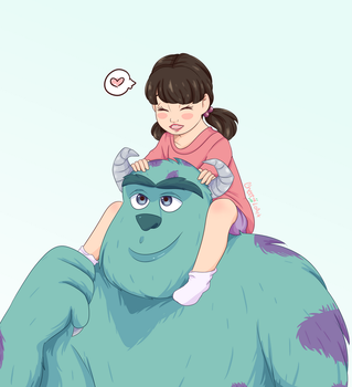 Boo And Sully by CherryLoArt