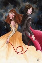 Reylo - Red String of Fate by FalseHope04