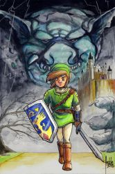 Link and Ghost of Ganon by fedde