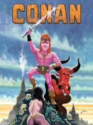 CONAN O'Brien the BARBARIAN by McQuade