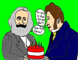 Happy Birthday Marx and Kierkegaard! by ethicistforhire