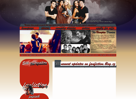 The Vampire Diaries Layout by Lexigraphic