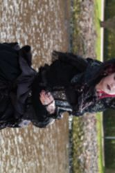 Stock - Romantic gothic lady barouque windy by S-T-A-R-gazer