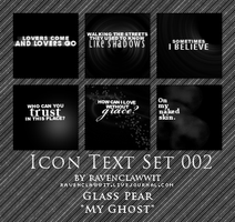 Icon Text Textures Set 002 by RavenclawWit