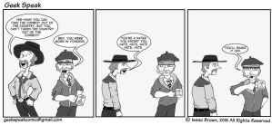 Geek Speaking of Cowboy and Hipster by BasicRowan