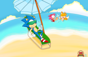 Kick Back :: Sonic 20th by RiotaiPrower