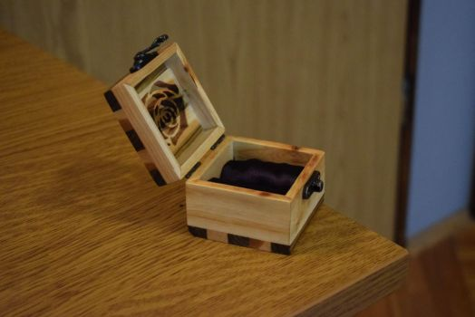 Wooden Ring/Earring Box from Tree Branch by matcheslv