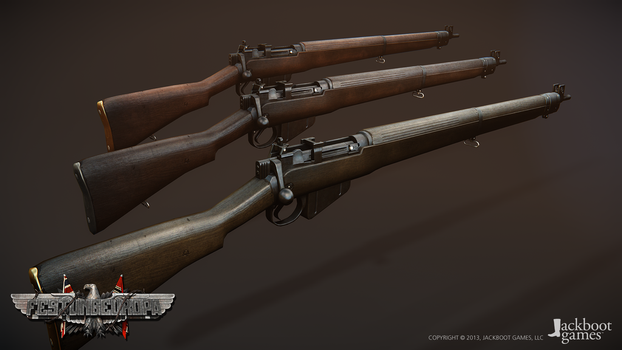 Lee-Enfield No.4 Mk I by JackbootGames