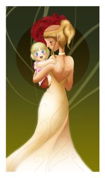 My little girl by Sheep-in-the-moon