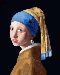 girl with a pearl earring make in ms paint by cuong244
