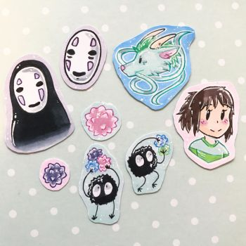 Spirited Away Sticker Pack by Crystal1031Wolf