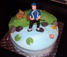 Fishing Birthday Cake by sparks1992