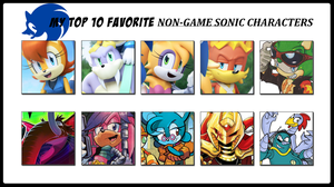 My Top 10 Favorite Non-Game Sonic Characters by 4xEyes1987