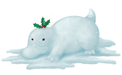 Psyduck snowman for Charity-Guild by UszatyArbuz