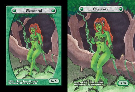 Custom Magic Token #3 - Earth Elemental by JasonRocket