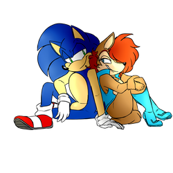 Sonic and Sally by SonicGalactus