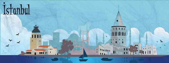 Istanbul Illustration by begumaa