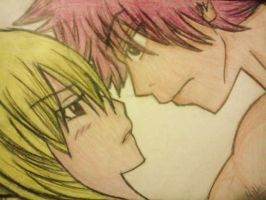 My Drawing, Natsu and Lucy by MelikeCan