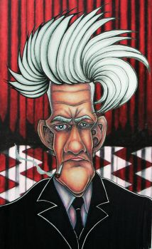 David Lynch Caricature by JoshUsmani